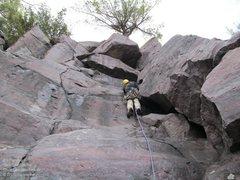 Rock Climbing Photo: Eric heads up