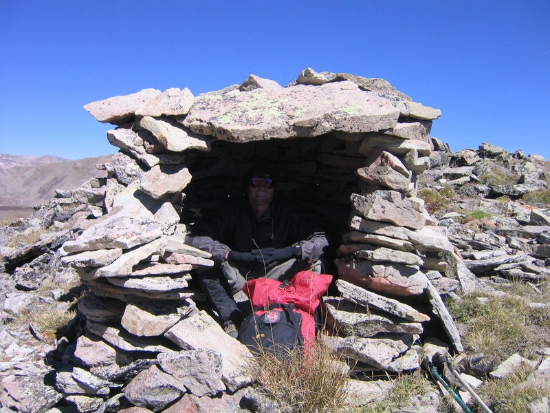 Stone shelter on Pennslyvania Mnt. Ridge.