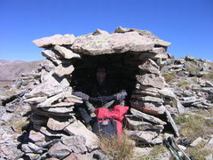 Rock Climbing Photo: Stone shelter on Pennslyvania Mnt. Ridge.