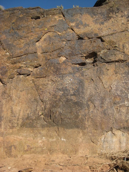 Rock Climbing Photo: Quick Sand (5.7). Zoom in to see positioning of bo...
