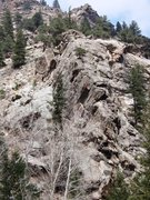 Rock Climbing Photo: View of Breakfast Cliff when looking from the road...