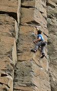 Rock Climbing Photo: Boschido's crux sequence