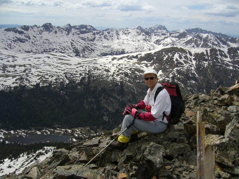 Jack Eggleston on Fancy Peak with Mt. Jackson behind.