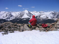 Rock Climbing Photo: Quandry from Hoosier Ridge.