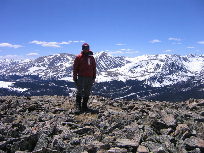 Rock Climbing Photo: On Red Mtn. with Quandry behind.