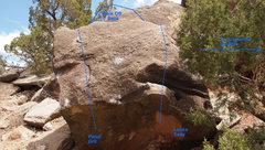 Rock Climbing Photo: Beta photo of The Grit Block
