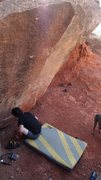 Rock Climbing Photo: Me marveling at the tiny pockets of one of the Hol...