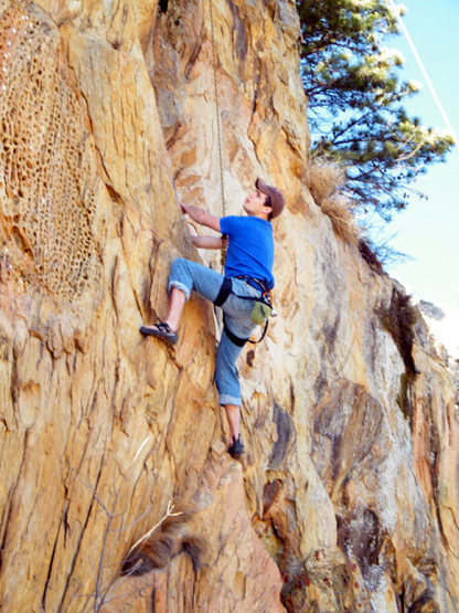 Rock Climbing Photo: Jordan on Crown of Thorns.