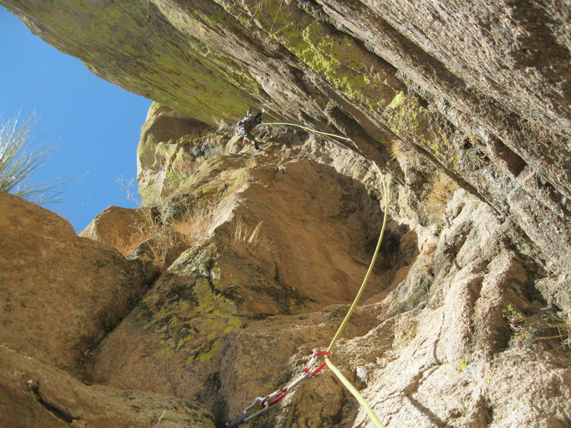 Rock Climbing Photo: On the second pitch of Unknown Left of Peacemaker....