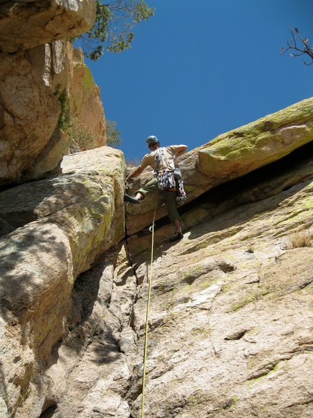 Rock Climbing Photo: Fourth Pitch of Unknown Left of Peacemaker