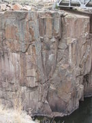 Rock Climbing Photo: Bushwacker is seen somewhat in profile, beginning ...