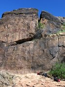 Rock Climbing Photo: The rope is on My Left Foot (5.11a). The route sta...