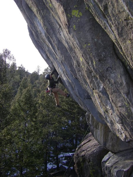 Trevor Bowman on an ultra steep proj at whiskey gulch