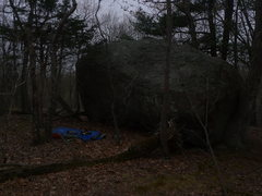 Rock Climbing Photo: the lonely boulder.  up on the hill before you get...