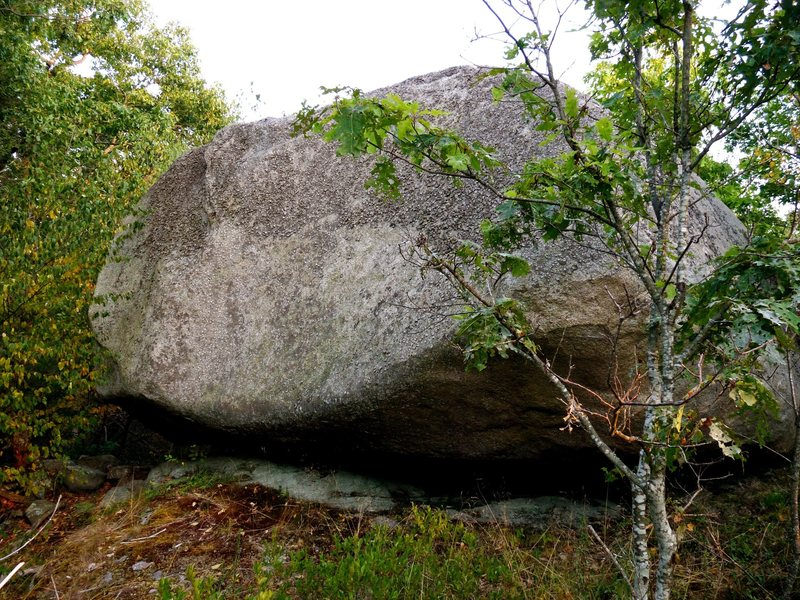 The North face of Extensions 2 Boulder.<br> <br> Probably about 15 feet tall.