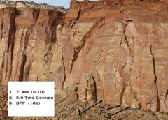 Rock Climbing Photo: An overview of a couple of climbs left of the Terr...