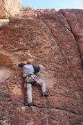 Rock Climbing Photo: scott on route 2 of 40
