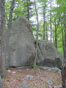 Rock Climbing Photo: The Fishnet Boulders, as viewed from the west (i.e...