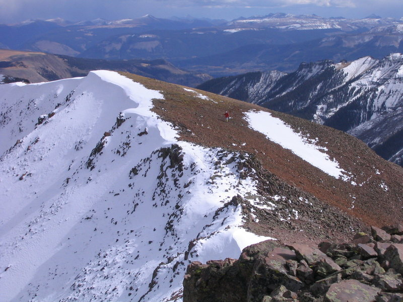 Approaching the summit of UN 13,851. San Juans, CO.