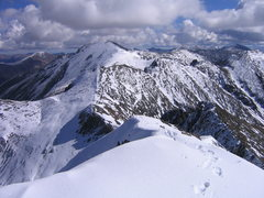 Rock Climbing Photo: Handies Peak as seen from Jones Mountain.