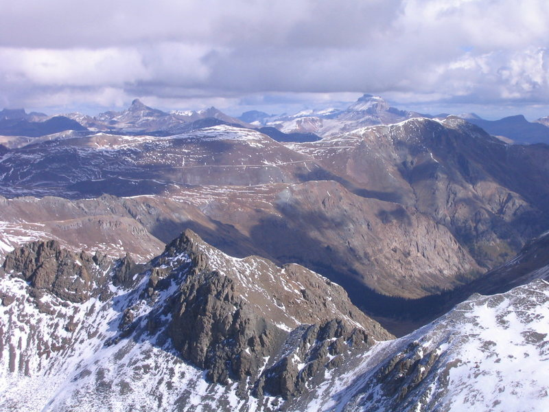 Wetterhorn and Uncompahgre Peaks from Jones Mountain.
