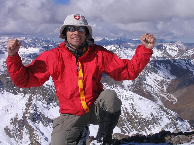 Self Portrait on summit of Jones Mountain.