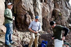 Rock Climbing Photo: Suiting up for the day