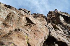 Rock Climbing Photo: Setting the anchor