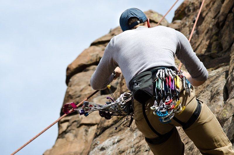 Rock Climbing Photo: getting lowered