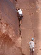 Rock Climbing Photo: CJ Sidebottom starting up Piece a Shit.