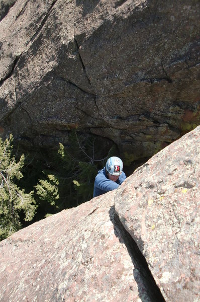 Rock Climbing Photo: Pulling the upper crux hand crack. Photo by Kevin ...