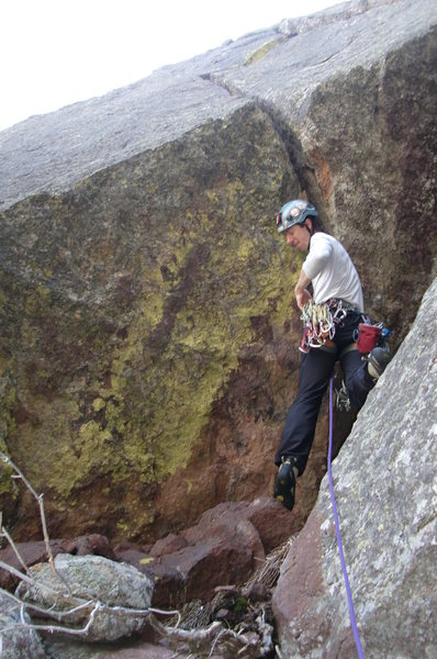 Rock Climbing Photo: A little scale on crack size and length. Photo by ...