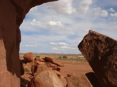 Rock Climbing Photo: The La Sal mountains from below the Tombstone.