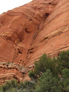 Rock Climbing Photo: Looking at the second pitch which begins 20 feet a...