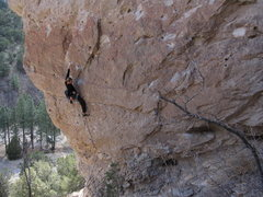 Rock Climbing Photo: Resting after the first crux. Photo by Tony Sartin...