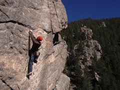 Rock Climbing Photo: Jay going for the onsight and 2nd ascent!