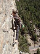 Rock Climbing Photo: Max on PK.