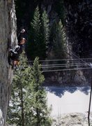 """Rock Climbing Photo: Kevin loving his new trad route """"The Diner&qu..."""