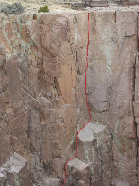 Rock Climbing Photo: This shows all of the original route, but mostly c...