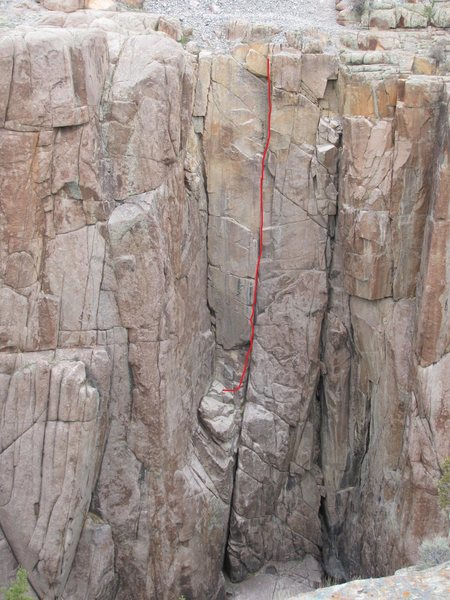Rock Climbing Photo: Hemateria Right, 5.8+