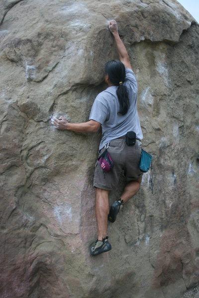 "Rock Climbing Photo: Albert ""Chalky Chalk"" Ramirez 4-21-11"