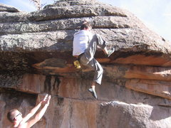 Rock Climbing Photo: The top out. Proto's first attempt, the next was t...