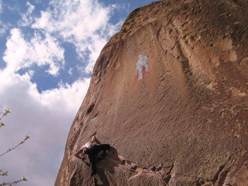 Rock Climbing Photo: Redpoint attempt on Los Hermanos de la Weenie Way