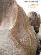 Rock Climbing Photo: East Face of Jabba