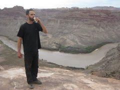 Rock Climbing Photo: Jonny celebrating no major vehicular damage (yes, ...