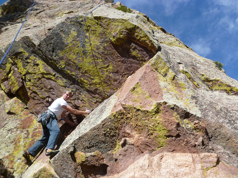 Rock Climbing Photo: Head up right and turn the corner.  The pro is not...