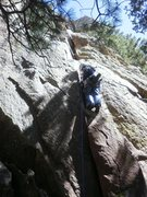 """Rock Climbing Photo: Standing on the big """"tooth"""" that marks t..."""