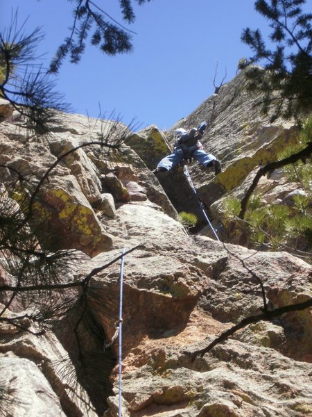 Stemming into the classic dihedral on the top section.