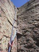 Rock Climbing Photo: A closer peek of the upper corner,  very fun.