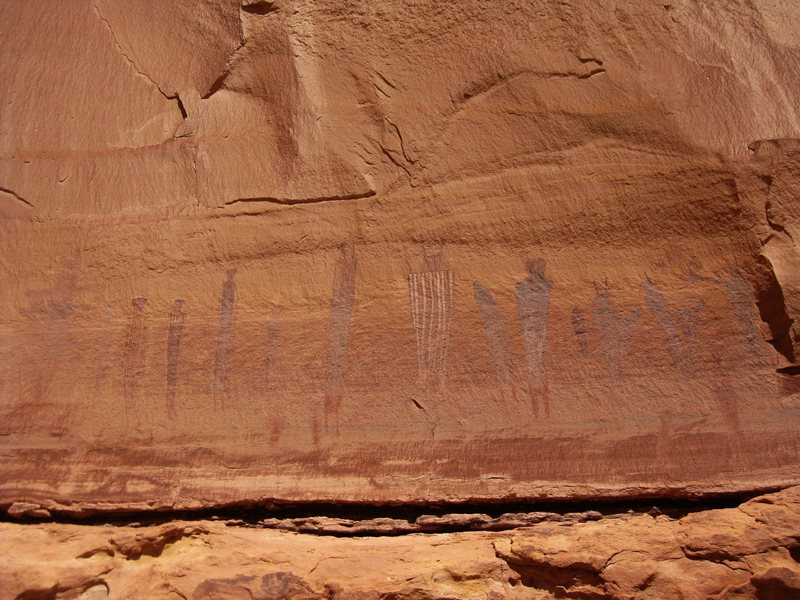 Rock Climbing Photo: Some of the 2,000 year old pictographs in The Maze...